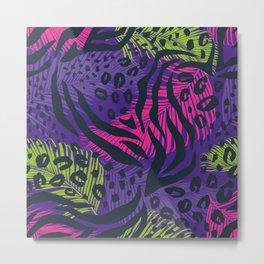 Geometric Animal Print Metal Print
