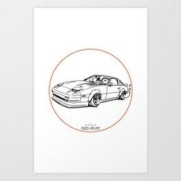 Crazy Car Art 0052 Art Print