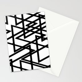 Interlocking Black Triangles Artistic Design Stationery Cards