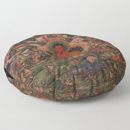 Buddha Amitabha in His Pure Land of Suvakti Floor Pillow