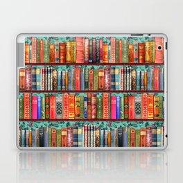 Vintage Books / Christmas bookshelf & holly wallpaper / holidays, holly, bookworm,  bibliophile Laptop & iPad Skin