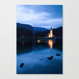 Lake Bohinj at dusk Canvas Print