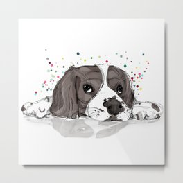 Cute and colourful Dog illustration Metal Print