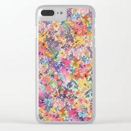 Prairie Wildflowers Clear iPhone Case