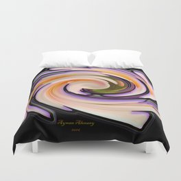 The whirl of life, W1.8B Duvet Cover