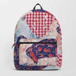 Autumn Floral Plaid  Backpack