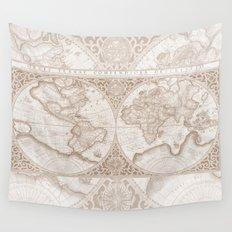 Terra in Tan Wall Tapestry