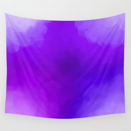 Dreamy Lavender Indigo Clouds Abstract Wall Tapestry