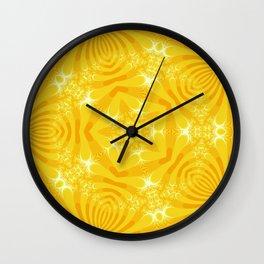 Golden Yellow Starfish Design Wall Clock