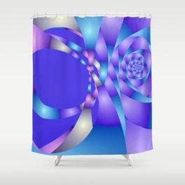 blue violet pattern -3- Shower Curtain