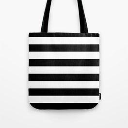 Black White Stripe Minimalist Tote Bag