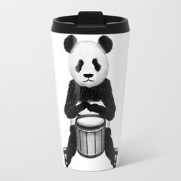 Panda Drummer Travel Mug