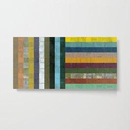 Wooden Abstract Vl Metal Print