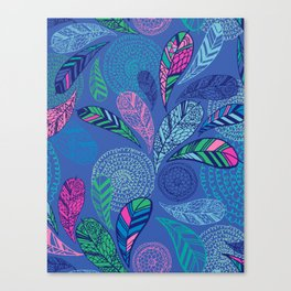 Feather Doodle Canvas Print