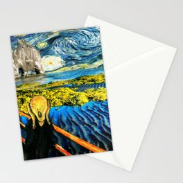 Edvard meets Vincent Stationery Cards