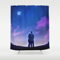 new year Shower Curtains featuring New Year, New Us by Smojojo