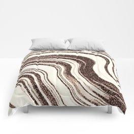 Textured Marble - Brown & Cream Comforters