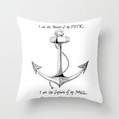 Anchor - W.E. Henley Throw Pillow