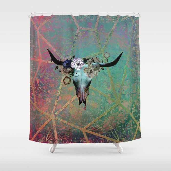 Longhorn Daydreams Shower Curtain