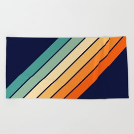 Farida - 70s Vintage Style Retro Stripes Beach Towel