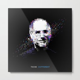 Steve Jobs - Tech Heroes series Metal Print