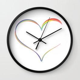 Heart Semicolon Art Mental Health Depression Suicide Prevention Awareness Gifts T-shirt Design Wall Clock
