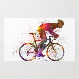 cyclist road bicycle Rug