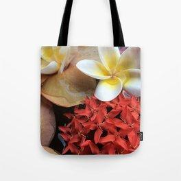 Frangipani & Ixora Tote Bag