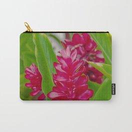 Alpinia purpurata Jungle King Red Ginger Tropical Flowers Lāhainā Maui Hawaii Carry-All Pouch