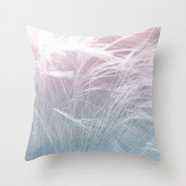 LIGHT FIELDS -Pink Throw Pillow