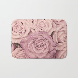 Some People Grumble - Pink Rose Pattern- Roses Bath Mat