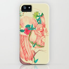 flowery muscle iPhone Case