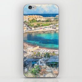 Malta St. Julians #malta #city iPhone Skin