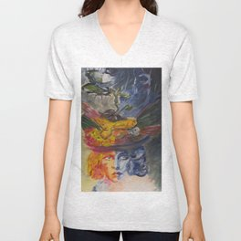 two women Unisex V-Neck