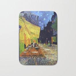 Cafe Terrace at Night Bath Mat