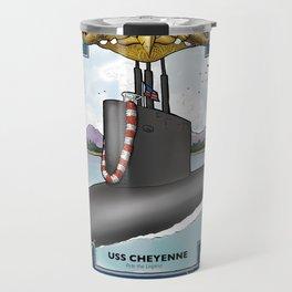 USS Cheyenne - Pearl Harbor Submarine Service (Gold Dolphins) Travel Mug