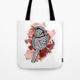One Little Bird (Red Version) Tote Bag
