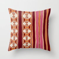 cleveland Throw Pillows featuring Cleveland by Little Brave Heart Shop
