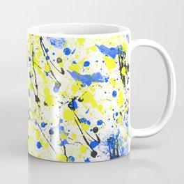 Splatter Painted Minion  Coffee Mug