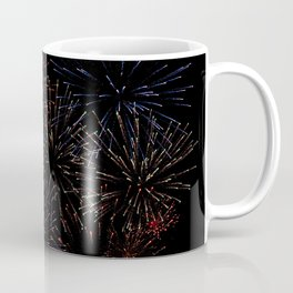 New Years Firework Texture Coffee Mug