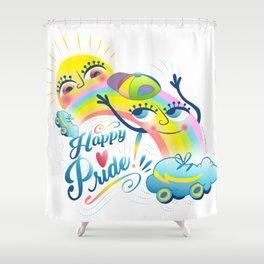 Happy Pride LGBTI Shower Curtain