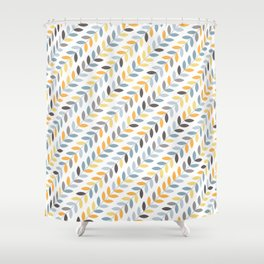 String Leaves Shower Curtain