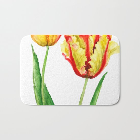 two tulips Bath Mat