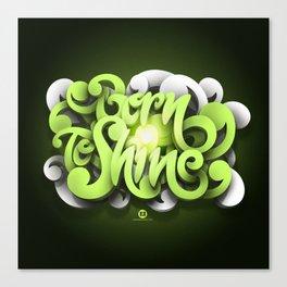 Born To Shine Canvas Print