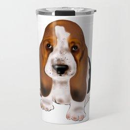 Cute baby basset hound dog gift idea Travel Mug
