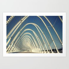 abandoned olymic central, athens Art Print