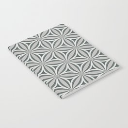 Geometrical, floral, circle, triangle pattern in neutral tints. Pop art style Notebook