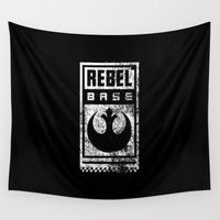 rebel Wall Tapestries featuring Rebel Base by Gurven