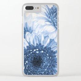 Blue Gerbera Clear iPhone Case