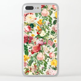 Floral A Clear iPhone Case
